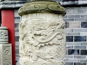 隆昌天运楼景观石柱雕刻