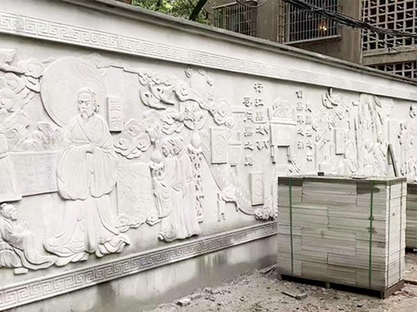青石文化墙雕刻